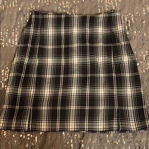 black plaid brandy skirt